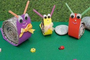 news-paper-snail-craft-idea
