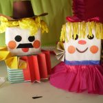 Milk carton puppet crafts for kids