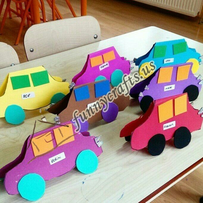 Paper Plate Car Craft