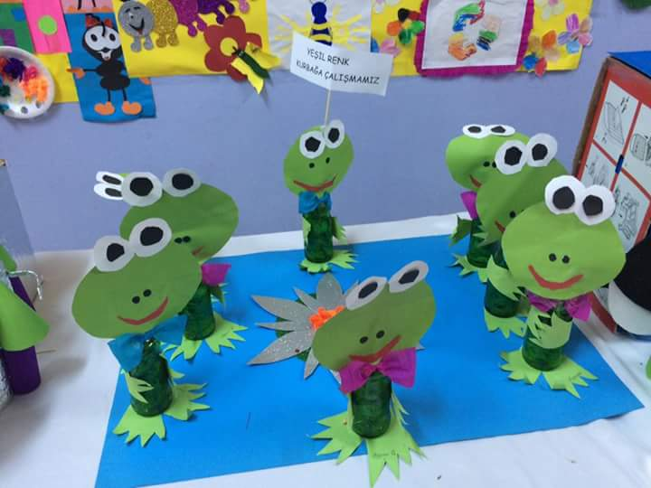 Paper frog craft 2 preschool and homeschool for Frog crafts for preschoolers