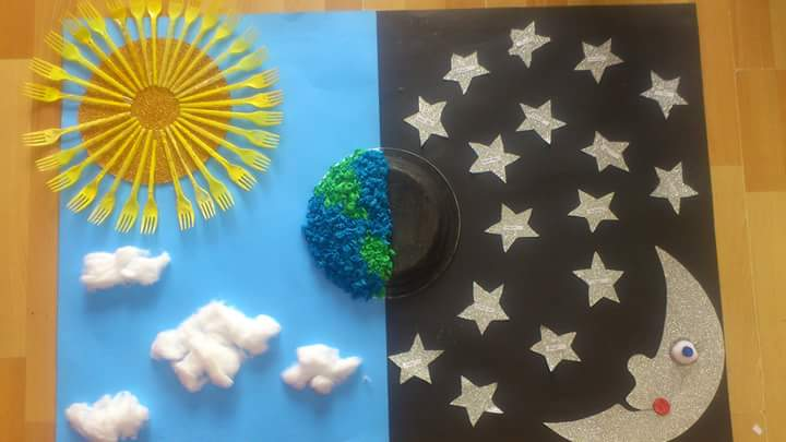 paper plate day and night craft
