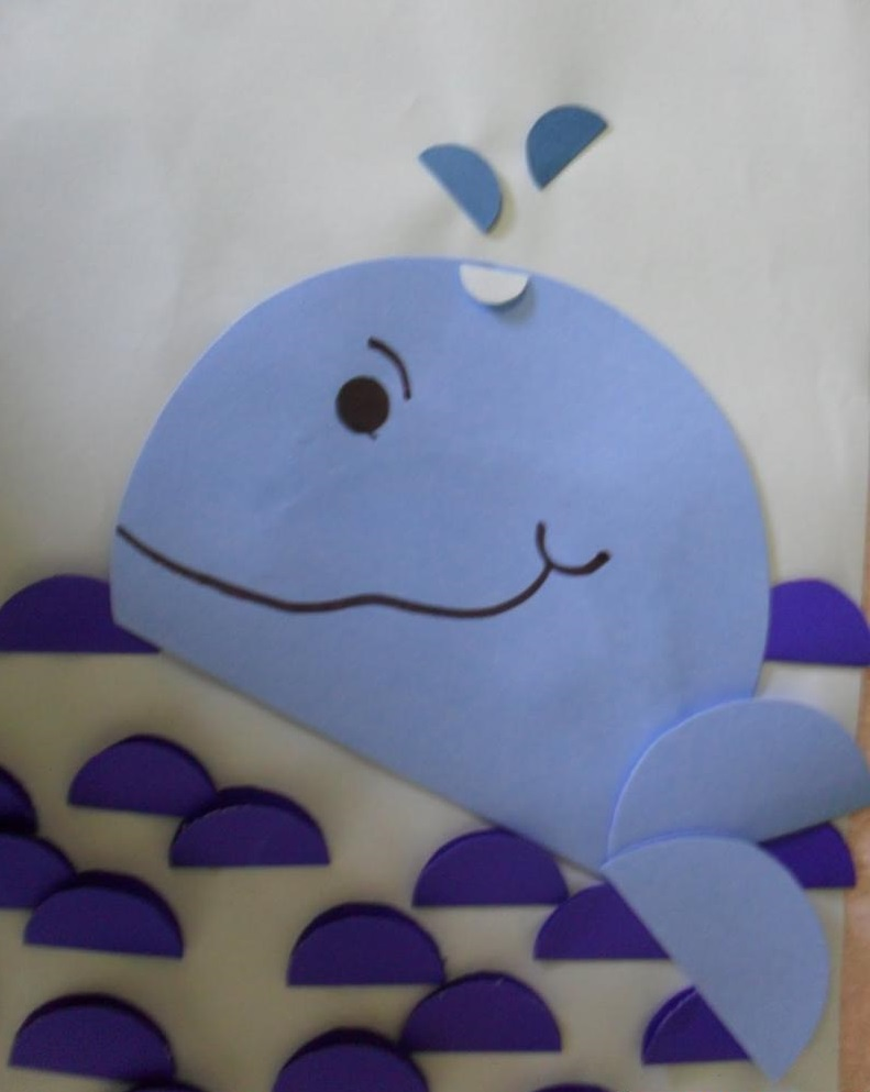 Paper whale craft 1 preschool and homeschool for Whale crafts for kids