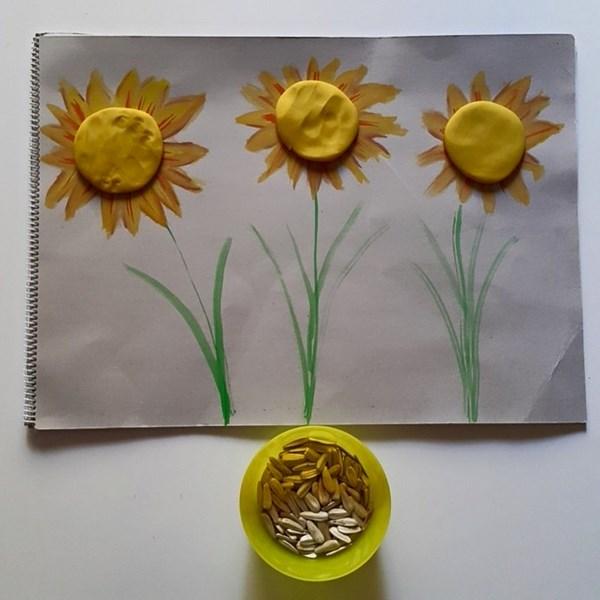 play-dough-sunflower-craft