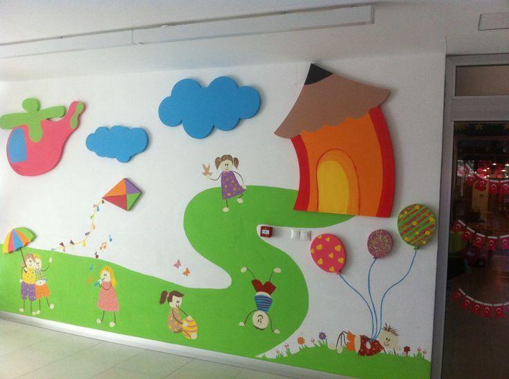 Classroom Decoration Wall Painting ~ Preschool hallway decorations « funnycrafts
