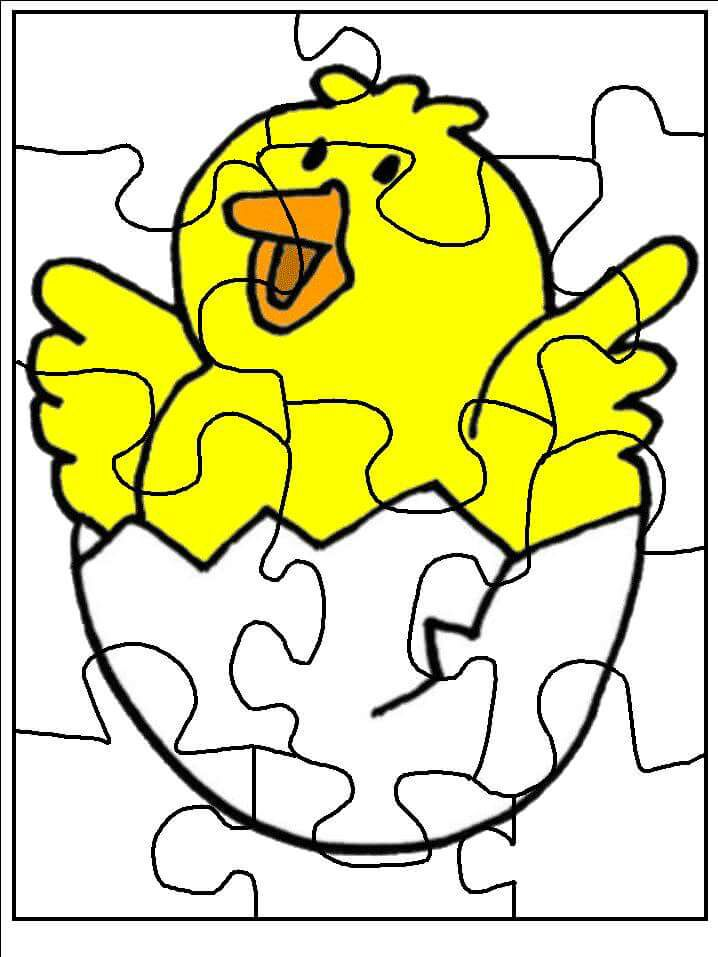 puzzlecoloringpagestoprintchick1 Preschool and
