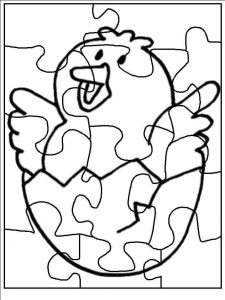 Puzzle piece coloring pages  funnycrafts