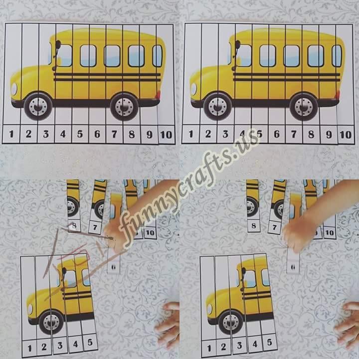 schoolbuspuzzleforkids Preschool