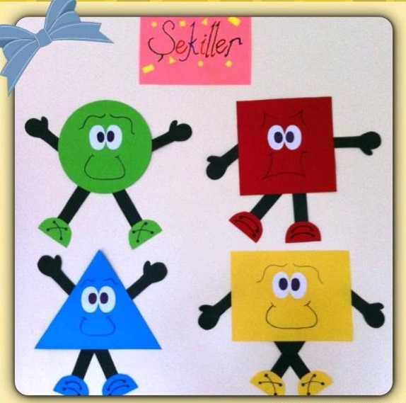 Classroom Board Decoration Ideas For Kindergarten : Shapes bulletin board ideas classroom decorations for