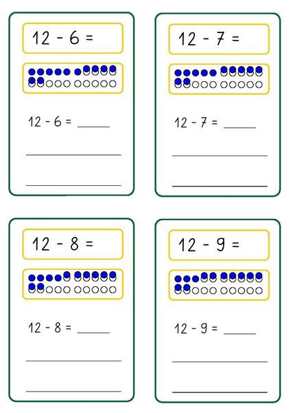 Number Names Worksheets subtraction sheet : subtraction-sheet-free-4 Â« funnycrafts