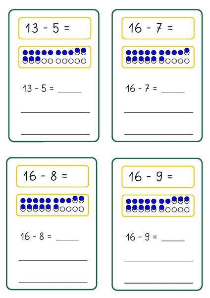 Number Names Worksheets subtraction sheet : subtraction-sheet-free-8 Â« funnycrafts