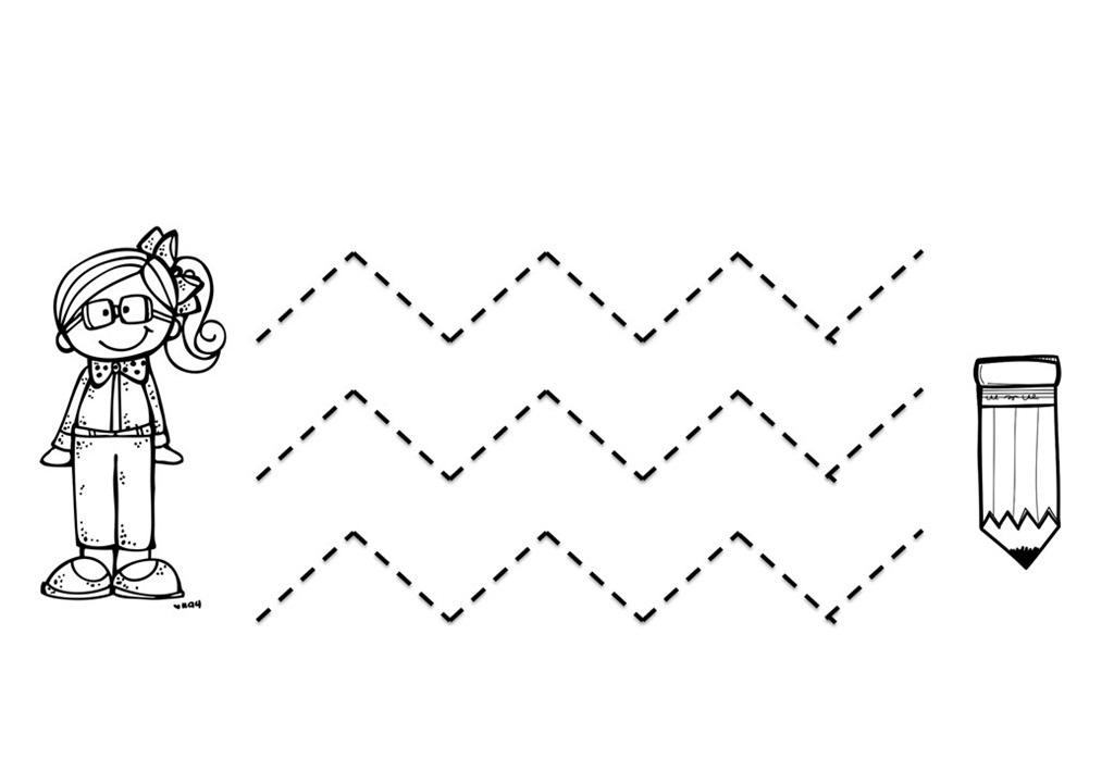 Zigzag Line Art : Tracing zig zag lines « preschool and homeschool