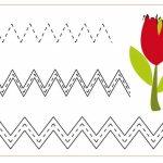 Zigzag worksheets for kindergarten