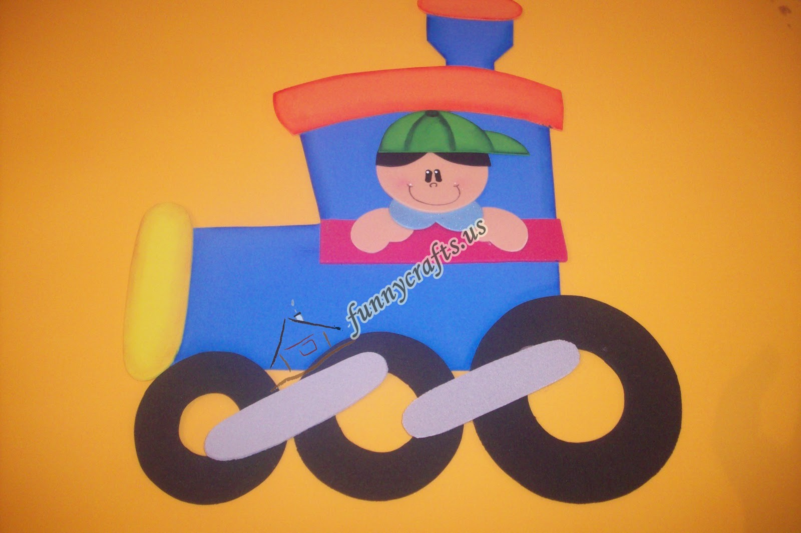 Train Number Craft on color by number coloring pages for preschool