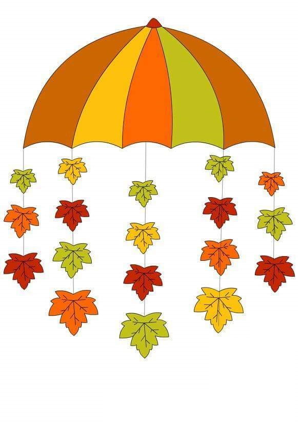 Umbrella autumn crafts for kids 2 preschool and homeschool for Addobbi autunnali per l aula