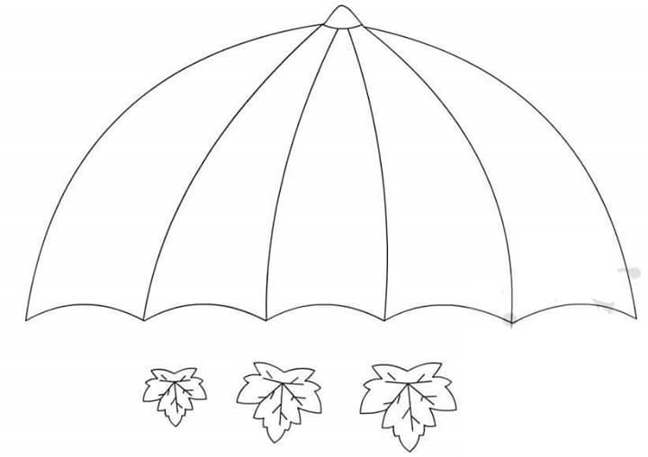 printable umbrella template for preschool - umbrella craft template 1 preschool and homeschool