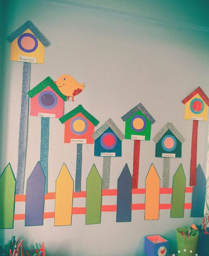 Wall decorations for preschool 7 preschool and homeschool for Art classroom decoration ideas