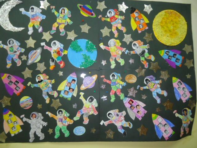 Astronaut Bulletin Board Ideas For Kids Preschool 2