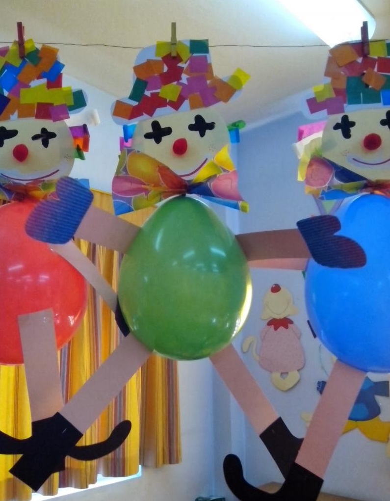 Balloon clown craft preschool and homeschool - Clown basteln kindergarten ...