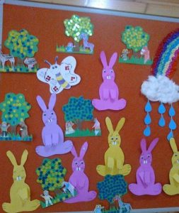 bunny-bulletin-board-idea