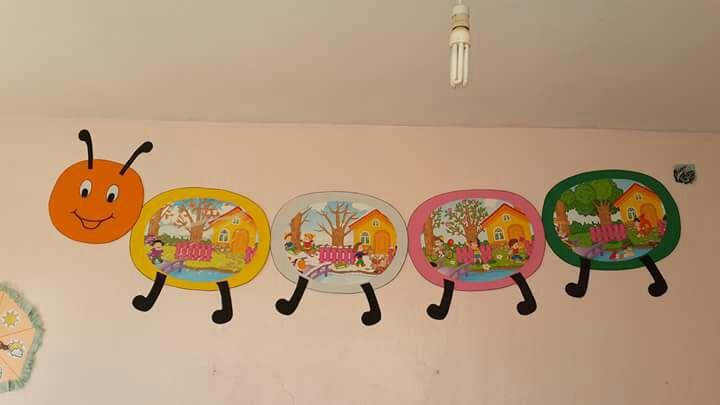Preschool Classroom Wall Decor ~ Caterpillar wall decoration « preschool and homeschool