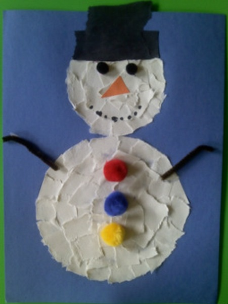 how to make a snowman craft for kids