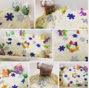 moon-sand-sensory-bin-winter-themed