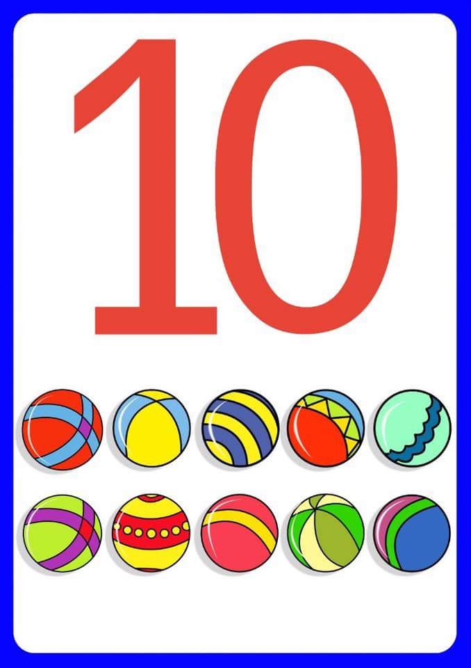 Number Ten Flashcards For Kids on Free Printable Homeschool Worksheets
