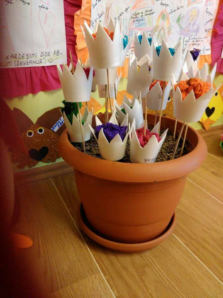 Paper Cup Flower 171 Preschool And Homeschool