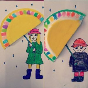 Umbrella craft for preschoolers
