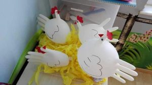 plastic-gloves-chicken-craft