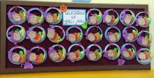 plate-fruits-bulletin-board-idea