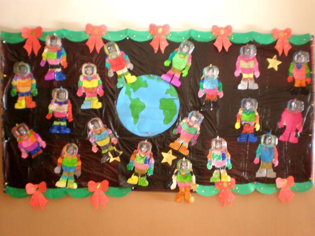 Language Arts Classroom Decorations ~ Preschool astronaut and space unit « funnycrafts