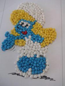 tissue-paper-smurfs-craft
