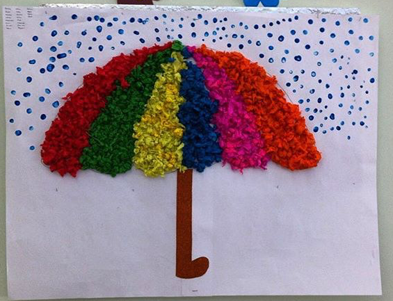 Umbrella craft for preschoolers Funny crafts