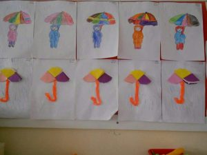Umbrella craft for preschoolers