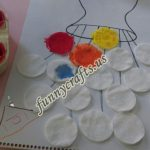 Flower art with cotton pads