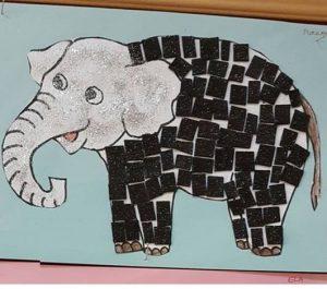 mozaic-elephant-craft