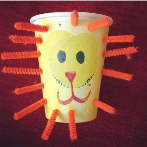 paper-cup-lion-craft-idea