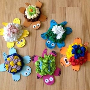 tissue-paper-turtle-craft