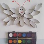 Paper roll art idea for toddlers