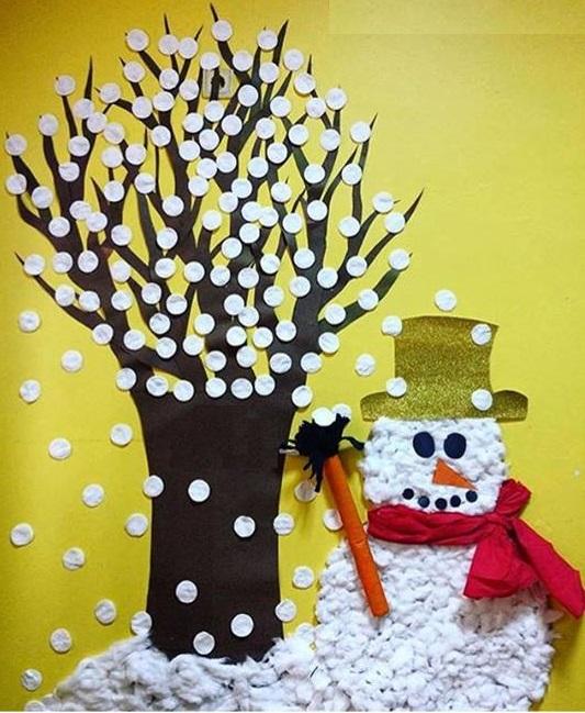Math Classroom Wall Decorations ~ Winter wall decorations for school « preschool and
