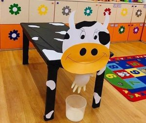 Project For Kids Cow Door Decorations Preschool
