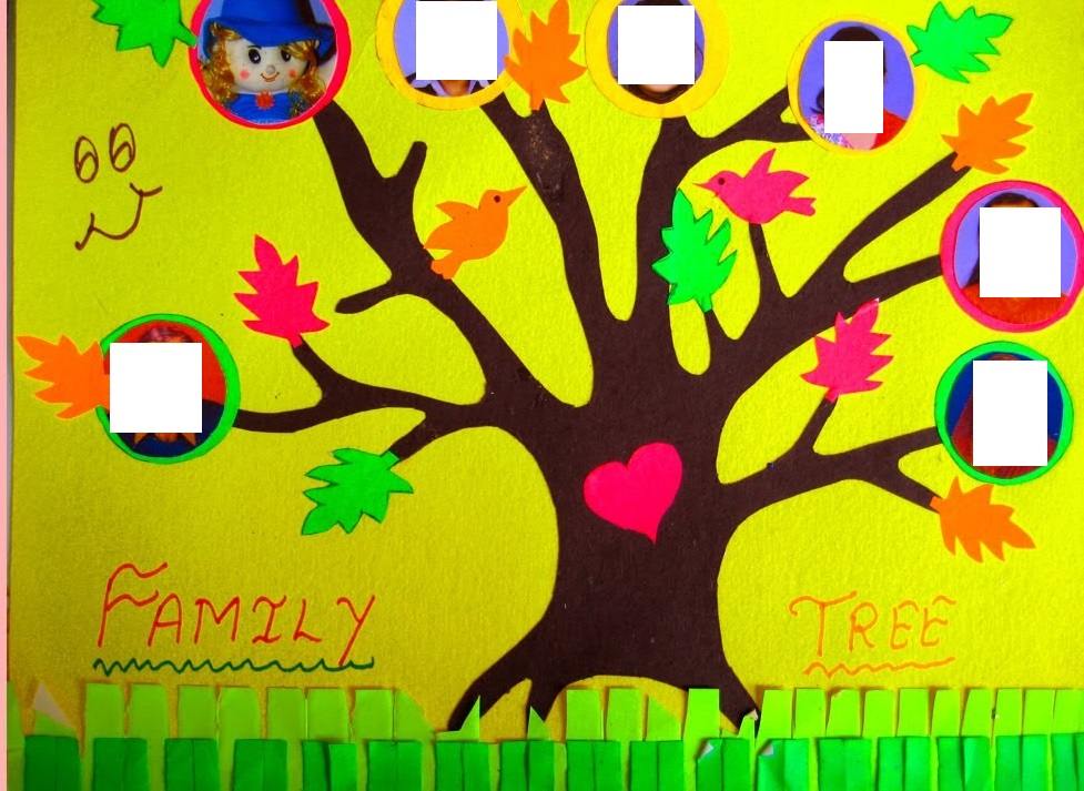 Family tree craft idea for kids 6 preschool and homeschool for How to make the best family tree project