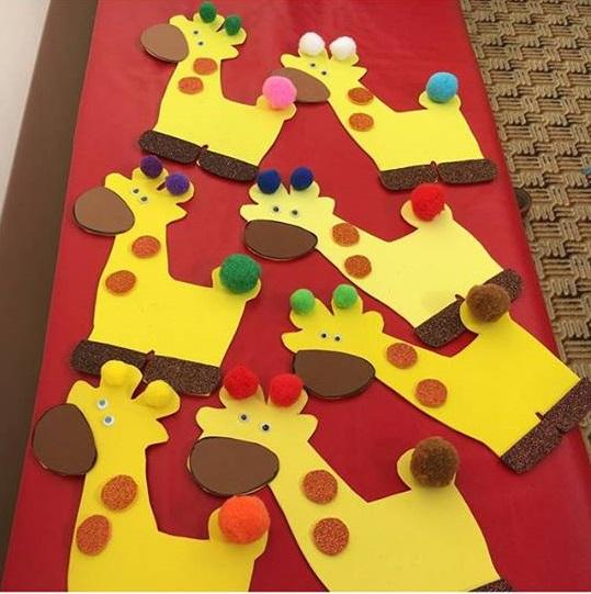 giraffe craft Preschool and Homeschool