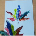 Leaf printing ideas for kids