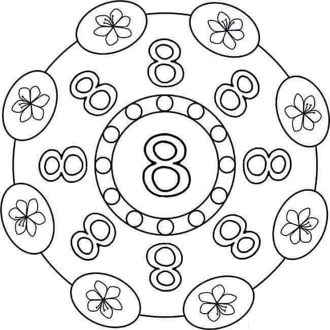 number eight mandala preschool and homeschool. Black Bedroom Furniture Sets. Home Design Ideas
