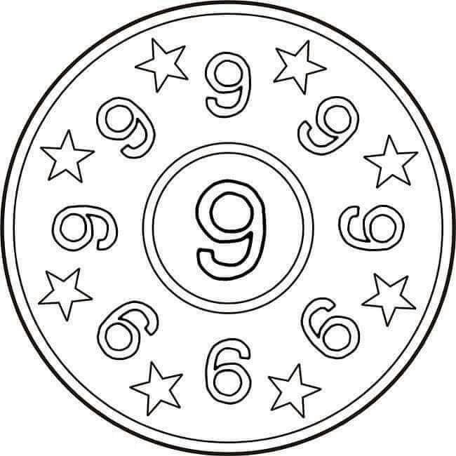 number nine mandala preschool and homeschool. Black Bedroom Furniture Sets. Home Design Ideas