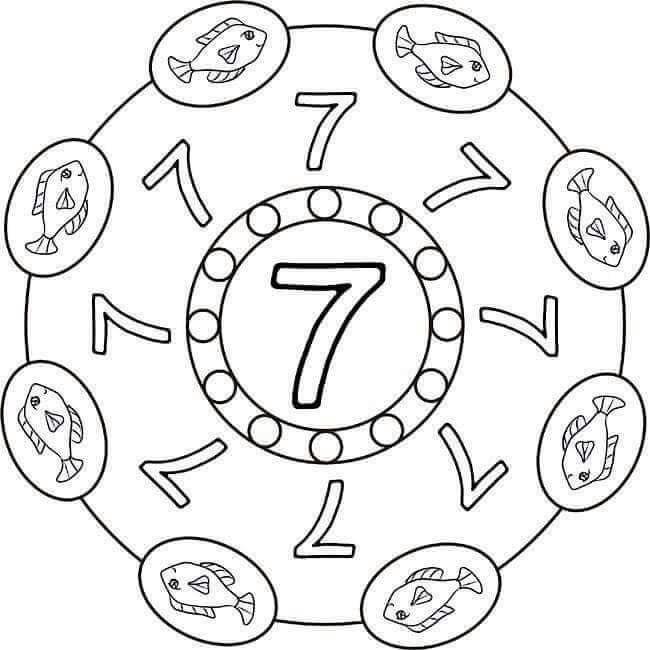 number seven mandala preschool and homeschool. Black Bedroom Furniture Sets. Home Design Ideas