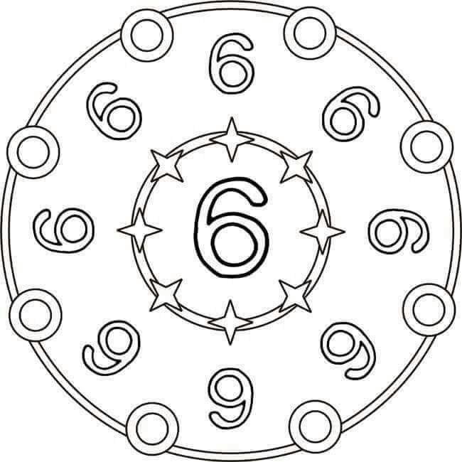 number six mandala preschool and homeschool. Black Bedroom Furniture Sets. Home Design Ideas