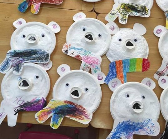 polar bear crafts for preschoolers paper plate polar craft 171 preschool and homeschool 976